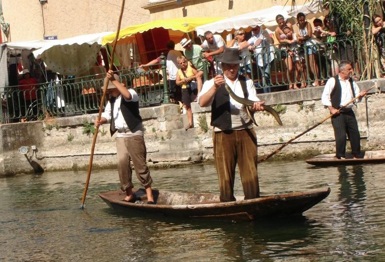 pêche pêcheurs l'isle sur sorgue canal rivière poissons tradition